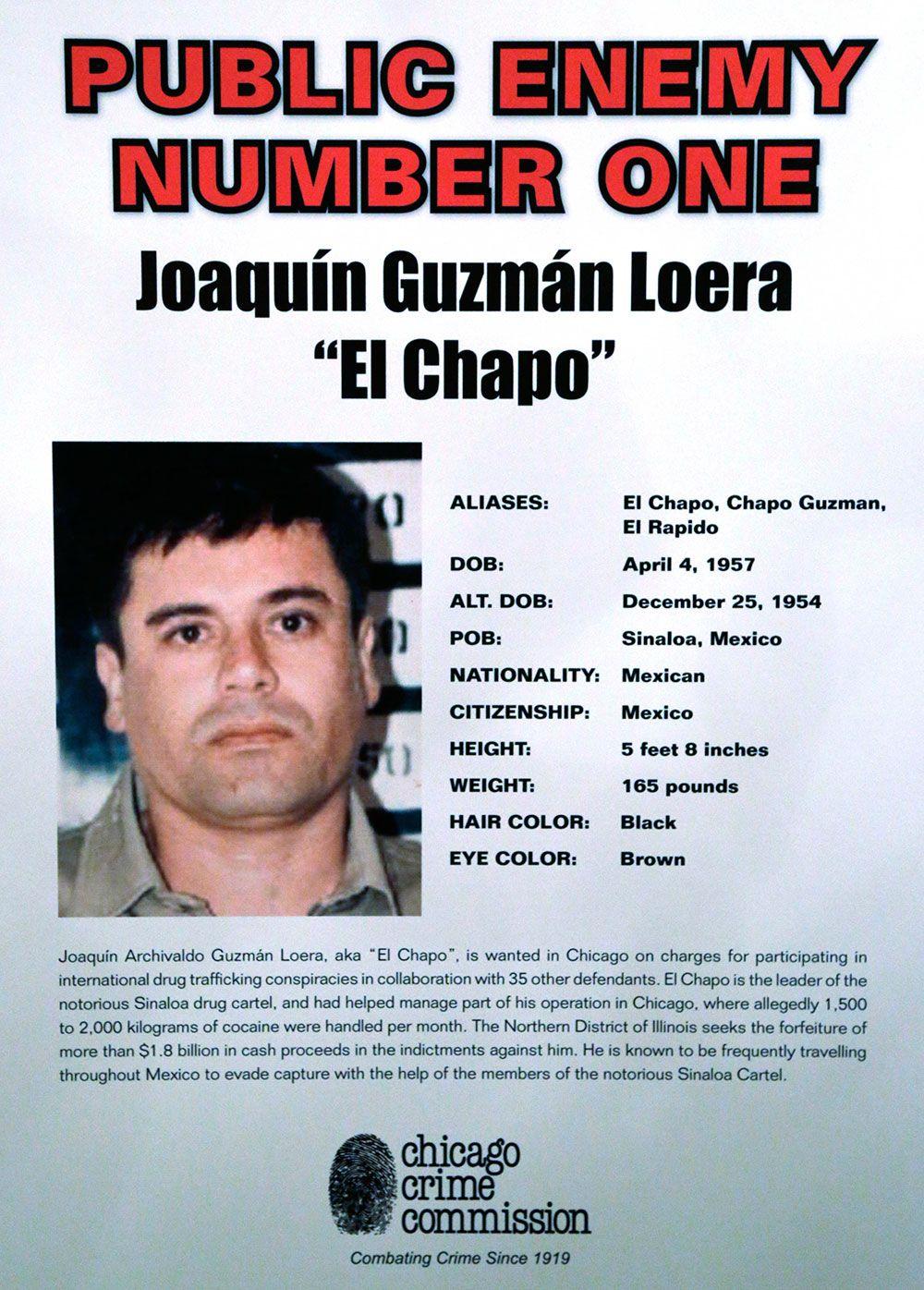 El Chapo fue nombrado Enemigo Público en Estados Unidos. Foto de AP
