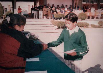 Padilla Martínez en la secundaria. Foto de Conacyt